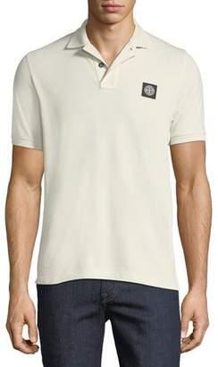 Stone Island Pique-Knit Polo Shirt