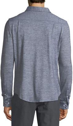 Original Penguin Men's Jaspe-Knit Sport Shirt, Black