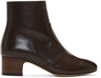 A.P.C. Brown Joey Boots $515 thestylecure.com