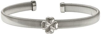 Steel By Design Stainless Steel Flexible Four Leaf Clover Station Cuff