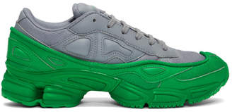 Raf Simons Green and Grey adidas Originals Edition Ozweego Sneakers