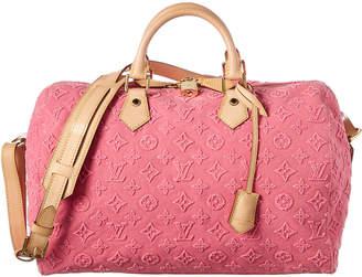 Louis Vuitton Pink Stone Monogram Canvas Speedy 35 Bandouliere