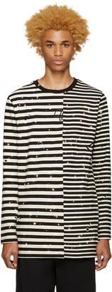 Off-White Black & White Striped T-Shirt $310 thestylecure.com