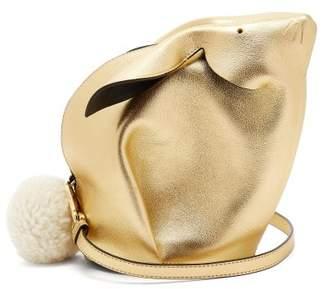Loewe Bunny Leather Cross Body Bag - Womens - Gold