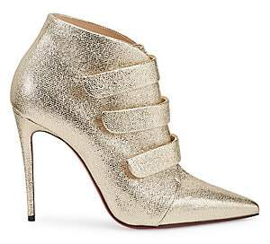 Christian Louboutin Women's Triniboot Metallic Leather Booties