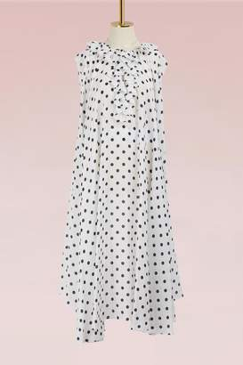 Balenciaga Polka dot short-sleeved dress