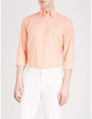 Eton Checked contemporary-fit cotton shirt