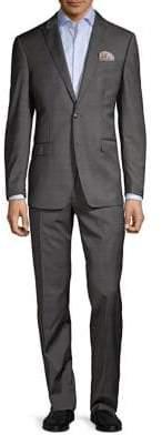 Tallia Orange Tonal Glen Plaid Wool Suit