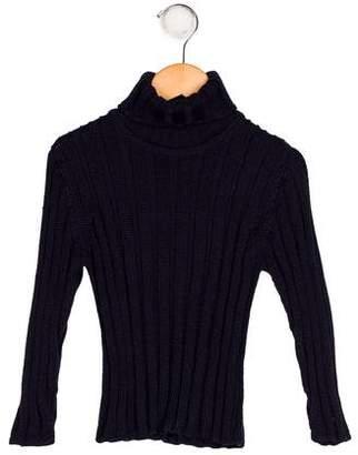 Papo d'Anjo Girls' Alpaca Knit Sweater