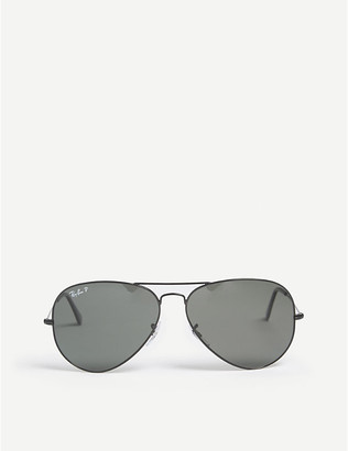 Ray-Ban Ladies Black Classic Original Aviator Metal-Frame Sunglasses Rb3025
