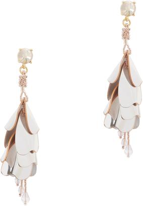 Oscar de la Renta Waterfall Opaque Earrings $435 thestylecure.com
