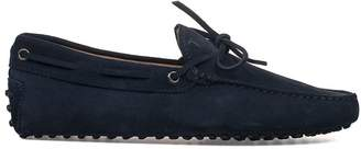 Tod's Blue Gommino Suede Loafer