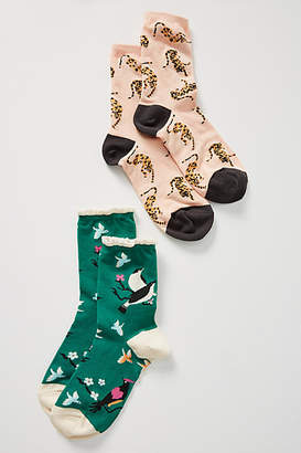Anthropologie 52 Conversations by Colloquial Animal Socks Gift Set