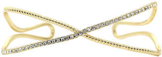 SPARKLE ALLURE city x city Cubic Zirconia Gold-Tone Brass X Bangle