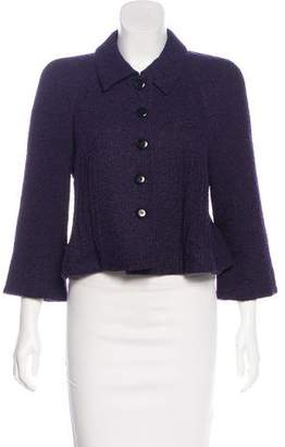 Armani Collezioni Wool Collared Jacket