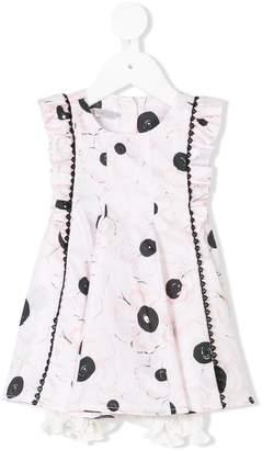 Christian Dior floral print ruffle dress