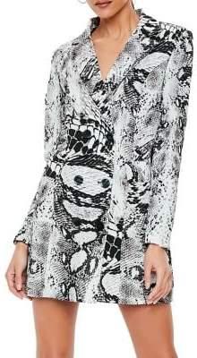 Missguided Python Plunge Blazer Dress