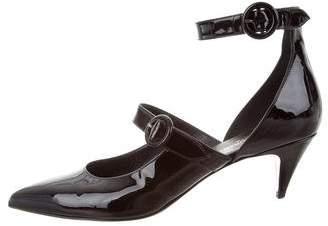 Saint Laurent Patent Leather Pointed-Toe Pumps