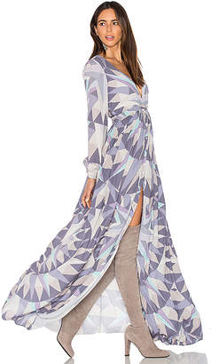 Mara Hoffman Compass Long Sleeve Maxi Dress in Lavender $498 thestylecure.com