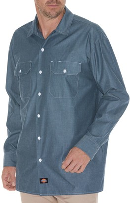 Dickies Men's Chambray Casual Button-Down Shirt