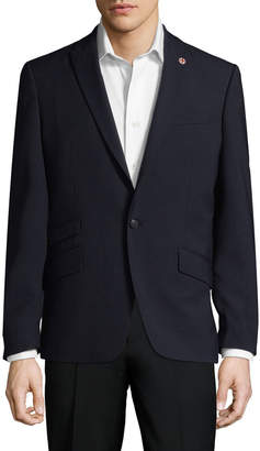 Ben Sherman Text Solid Peak Lapel Sportcoat