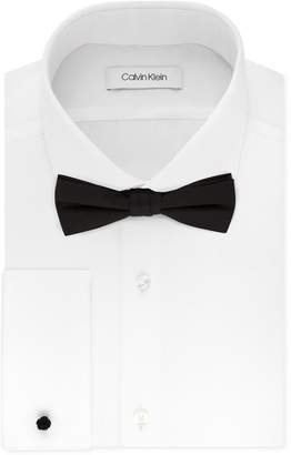 Calvin Klein X Men Extra-Slim Fit Formal White French Cuff Dress Shirt & Pre-Tied Bow Tie