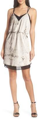 Adelyn Rae Leila Sequin Strappy Back Dress