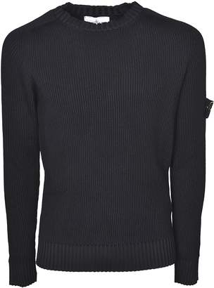 Stone Island Logo Patch Sleeve Sweater