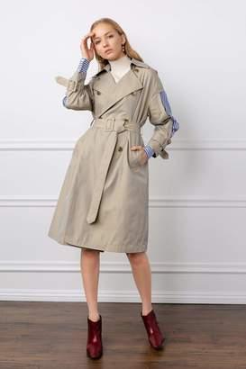 J.ING Nancy Peek-a-Boo Panel Trench Coat
