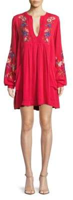 Free People Mia Embroidered Floral Dress