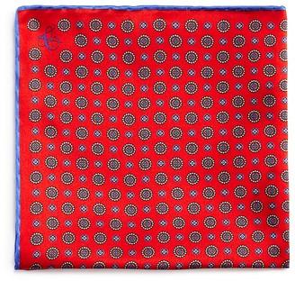 Canali Small Mini Circle Medallion Pocket Square $95 thestylecure.com