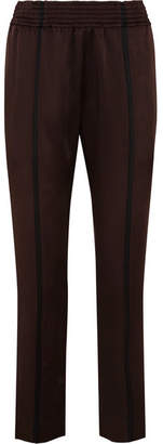 Haider Ackermann Striped Satin Slim-leg Pants - Dark brown