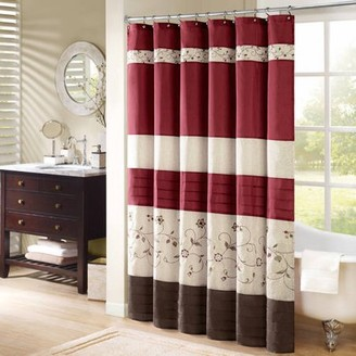 Madison Home USA Home Essence Monroe Embroidered Shower Curtain