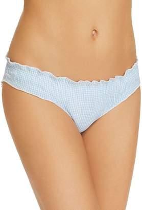 Shoshanna Mini Gingham Ruffled Bikini Bottom