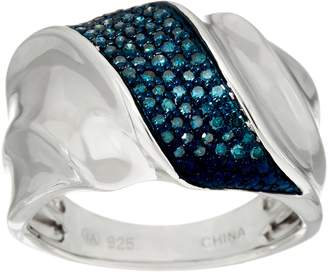 Affinity Diamond Jewelry Pave' Colored Diamond Band Ring, Sterling 1/4 cttw by Affinity
