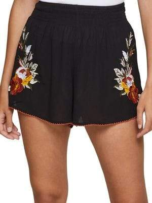 Miss Selfridge Embroidered Flippy Shorts