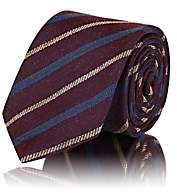 Tie Your Tie Men's Diagonal-Striped Textured-Silk Necktie - Red