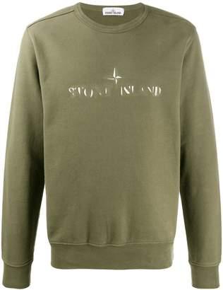 Stone Island fade out logo sweater