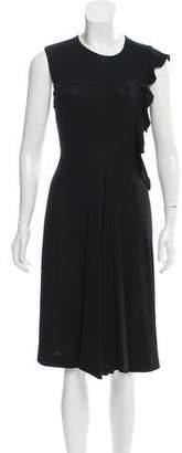 Saint Laurent Asymmetrical Midi Dress w/ Tags