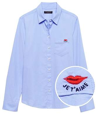 Banana Republic Petite Quinn-Fit Oxford Shirt