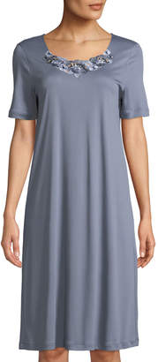 Hanro Jana Lace-Trim Short Nightgown
