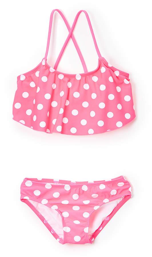 Pink Suzie Flounce Bikini - Toddler & Girls