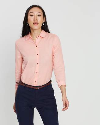 Maison Scotch Linen-Blend Shirt
