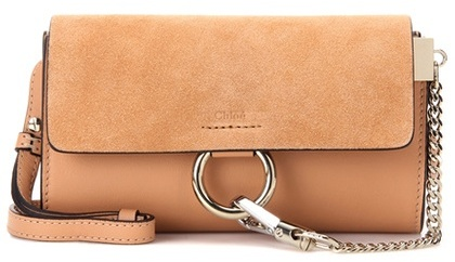 Chloé Chloé Faye Mini leather and suede wallet bag