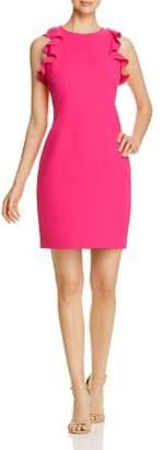 T Tahari Tania Flutter Sheath Dress