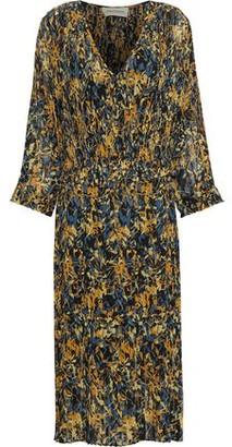 By Malene Birger Otter Pleated Floral-Print Chiffon Midi Dress