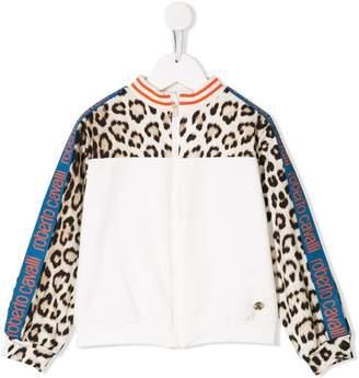 aab974792a5a Roberto Cavalli Junior leopard print bomber jacket