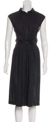 Band Of Outsiders Sleeveless Button-Down Dress
