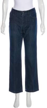 Armani Collezioni Mid-Rise Straight-Leg Jeans