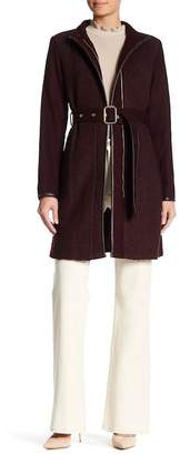 Vince Camuto Belted Wool Blend Coat